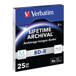 Verbatim M-Disc Lifetime Archival BD-R 25GB 4x Slim Case 5mm - 43827