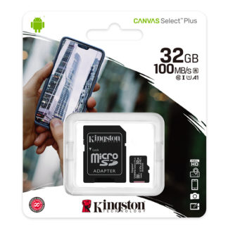 Kingston Canvas Select Plus microSDHC with adapter 32GB A1 | SDCS2/32GB