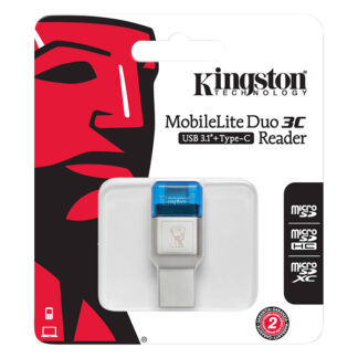Kingston MobileLite Duo 3C USB 3.1 + Type-C Card Reader | FCR-ML3C