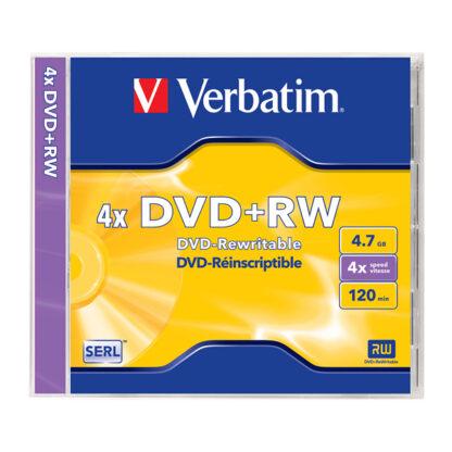 Verbatim DVD+RW 4.7GB 4x Jewel Case 10mm - 43228